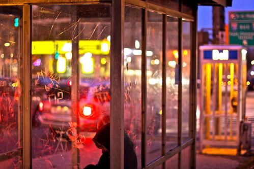 Hunched in NDG Light ... Recrocqvillé dans la Lumière de NDG ... Intersection Rue Girouard / Sherbrooke ... Montréal by gmayster01