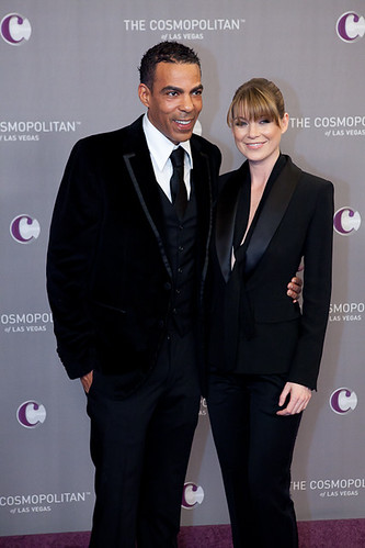 Chris Ivery and Ellen Pompeo at The Cosmopolitan Grand Opening and New Year's Eve Celebration