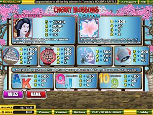 free Cherry Blossoms slot mini symbol