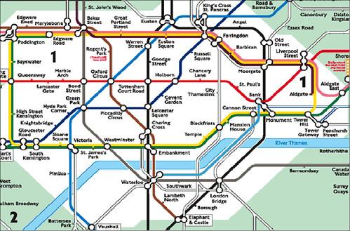 2011 Tube Map Quilt