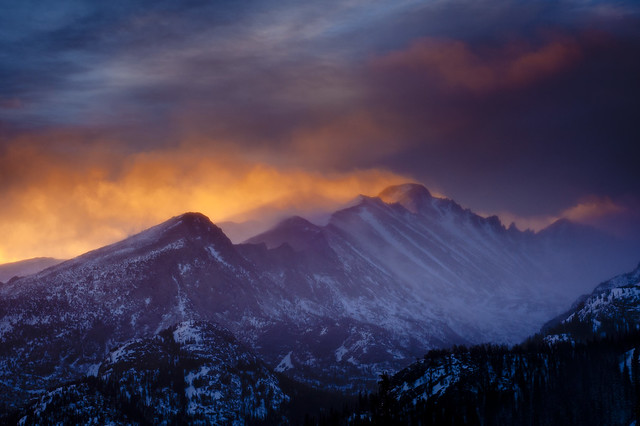 Rocky Mountain Fire, Long's Peak, Colorado