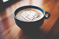 Typical Morning (Josh Deaton | www.josh-deaton.com) Tags: blue color film cup coffee 35mm canon vintage milk yummy cafe mark chocolate f14 14 faded mocha ii 5d espresso latte tones 35l