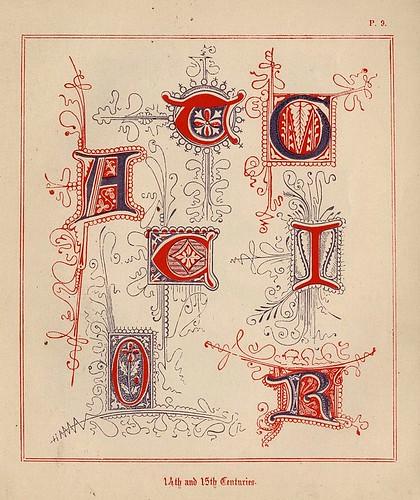 006- Medieval Alphabets and Initials 1886- F.G. Delamotte- Copyright 2006 illuminated-book.com& libros-iluminados.com