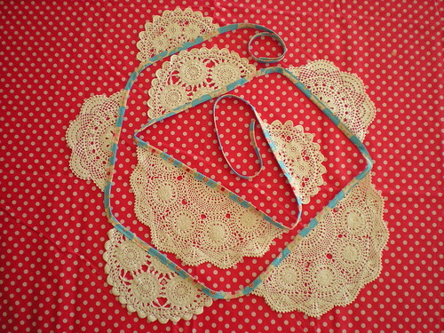 doily bunting for gracie