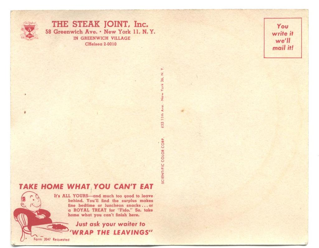 The Steak Joint, Inc.