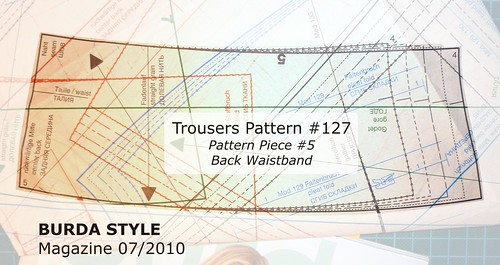 Pattern Piece 5 - Trouser Back Waistband
