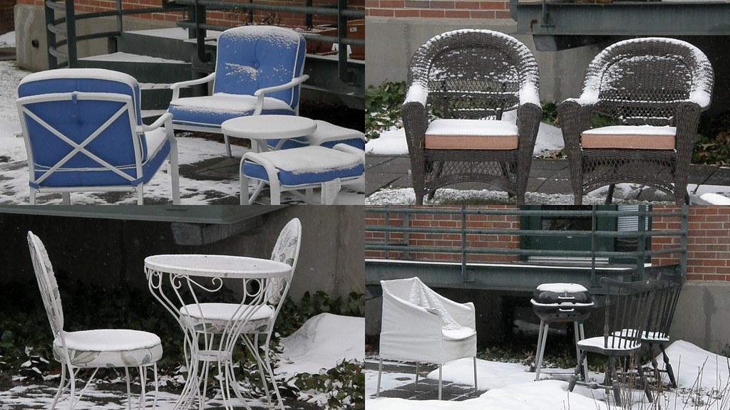 8/365: snowy lawn furniture
