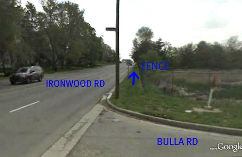 turning onto 4-lane Ironwood (via Google Earth)