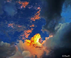 Dazzling light (Dora Joey) Tags: light sunset sky sun clouds fire tramonto nuvole cielo sole luce fuoco bestcapturesaoi