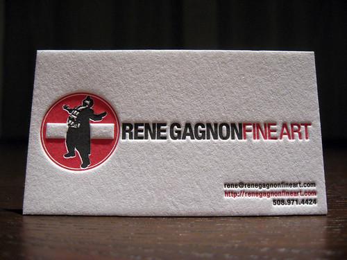 Rene Gagnon Letterpress Cards