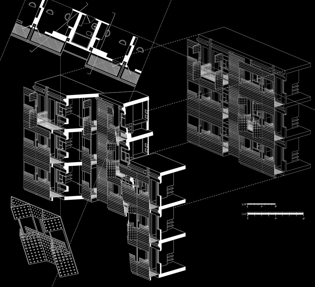 Section ZMustafa Tags Window Collage Architecture Facade Design Model Skin Drawing Dorm Machine