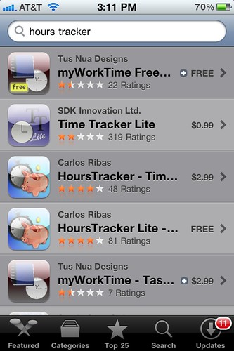 Hour Tracking and Time Sheet Apps
