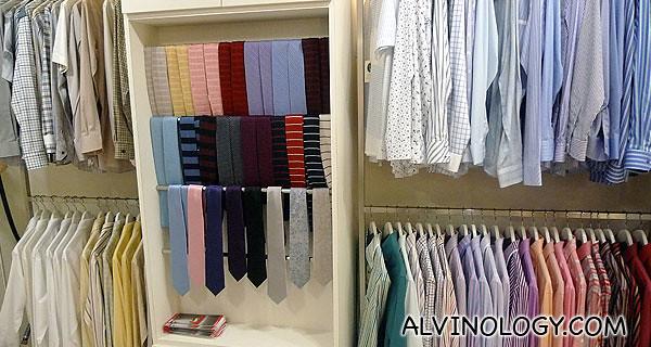 Shirt samples