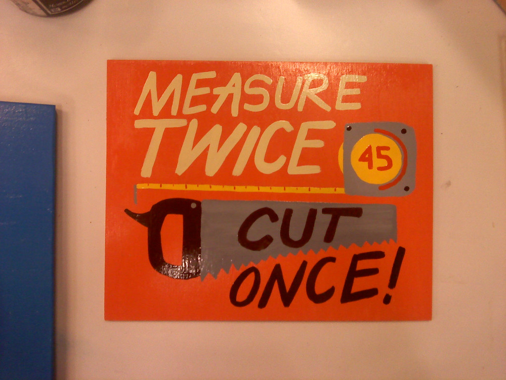 Measure Twice...