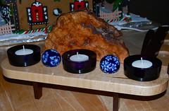 Creation for my love! (ineedathis, Everyday I get up, it's a great day!) Tags: christmas glass craft gift amethyst candleholder woodworking rosewood birdseyemaple nikond80 cherryburl bluedeftceramicballs