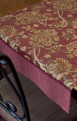 chenille table runner (kizilod2) Tags: red cord sewing rope fabric chenille tablerunner cording