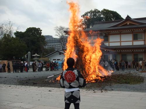 とんど 広島護国神社 2011画像 26