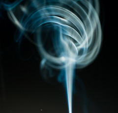 mage-42 (photonburst) Tags: blue white black lines nikon geometry smoke minimal burn adobe ethereal elegant minimalism rise incense drift lightroom d2xs