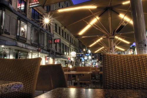 Vienna. Kärntner Strasse. Terrace. Terraza. Viena