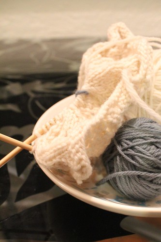 Knitting the Cowl