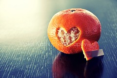 Words and hearts should be handled with care for words when spoken and hearts when broken are the hardest things to repair. (Violet Kashi) Tags: wood orange macro love kitchen tangerine table photography heart naturallight monday clementine bandaid hmm