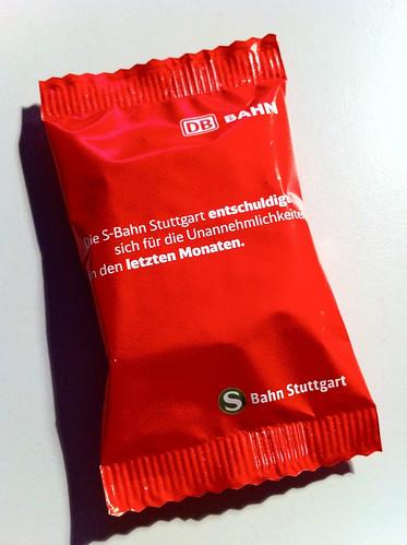 Die S-Bahn Stuttgart entschuldigt sich