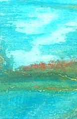 Mezzo (Imajica Amadoro) Tags: blue seascape abstract detail painting landscape mediterranean cityscape drawing originalart miniatureart fineart places center pastels impressionism organic middle nondigital portofino impressionist fabriano cradle handdrawn inbetween miniaturepainting mezzo organicart artistsbooks comtemporaryart blueart mommsen catherinelmommsen catherinemommsen