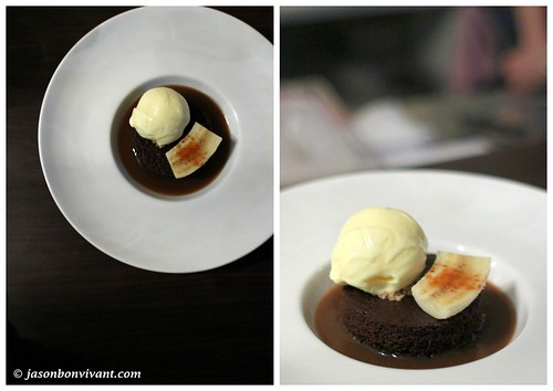 Warm Amarula Cake with Sour Cream Ice Cream