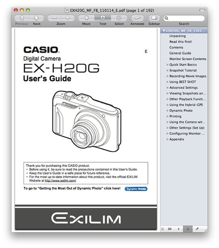 Casio H20G Manual