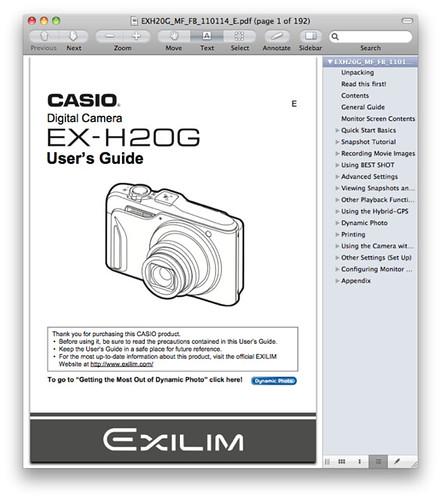 Casio H20G Manual