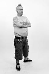 Yazzz (01) - 4th Tattoo Art Fest - 19Sep10, Paris (France) (°]°) Tags: portrait blackandwhite bw man paris art face tattoo neck skull artist arm noiretblanc 4 leg 4th nb piercing convention mohawk devil salon fest bodyart cou homme visage bras nuque iroquois implant diable tatouage crâne jambe tattooist piercer tattooer yazzz quatrième tattooartfest tatoueur
