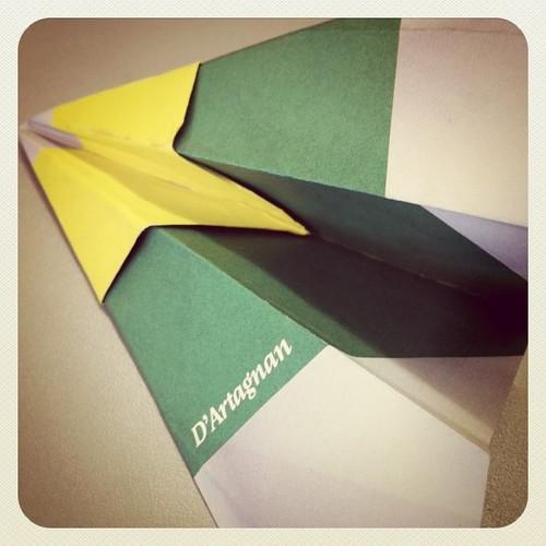 Paper airplane 'D'Artagnan' 18.01.11