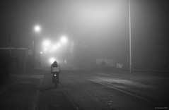 (andrewlee1967) Tags: road uk england mist fog lights cyclist britain cycle gb ashtonunderlyne ef35mmf2 andrewlee tameside dukinfield andrewlee1967 canon50d