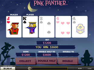 free Pink Panther slot gamble feature
