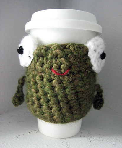 frog cup cozy
