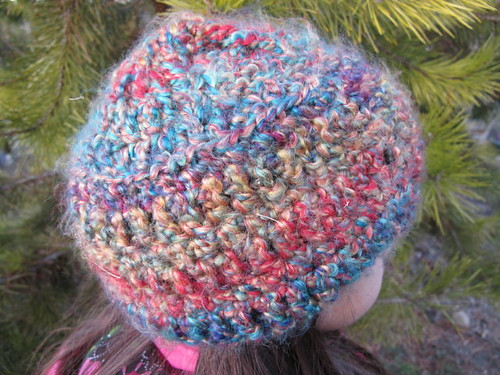 Fuzzy Rainbow Hat #3