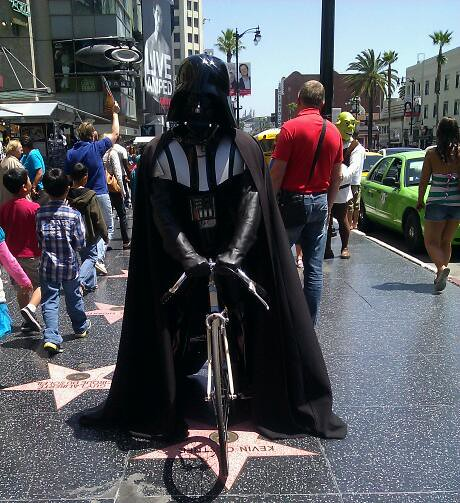 Darth Vader on Fuji flip-flop single speed