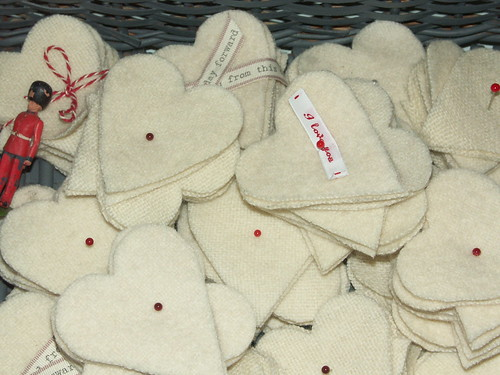Blanket hearts a la royale