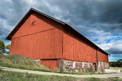 Barn in Sweden (davidshred) Tags: sweden barn red house stable cow farmer