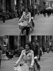 [La Mia Citt][Pedala] (Urca) Tags: 89117 milano italia 2016 bicicletta pedalare ciclicsta ritrattostradale portrait bike bicyclenikondigitale mir biancoenero bn bw blackandwhite