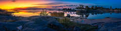 morning rising (SeALighT!) Tags: suomi finland finnland land autumn sea balticsea morning trees rock sunrise dawn landscape panorama