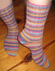 Simple striped socks