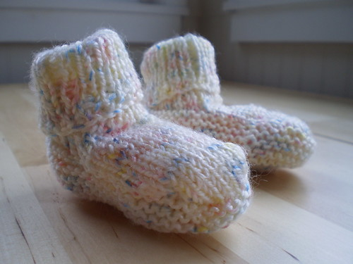 Booties for Cheryl's baby