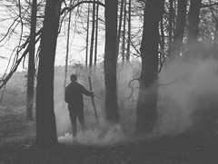 (mister sullivan) Tags: winter portrait mist fog southwales forest weird woods smoke anonymous monmouthshire wentwood