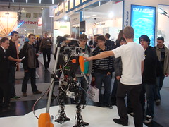 TUlip at the Farnell stand @ Electronica 2010 Munich (Dutch Robotics) Tags: dutch robot soccer tulip robotics humanoid tudelft robocup farnell dutchrobotics