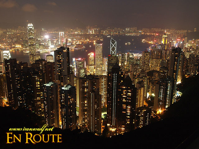 Hong Kong Skyline seen from Victoria Peak