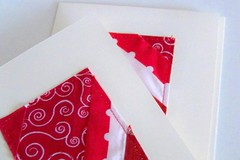 patchwork cards (PioneerValleyGirl) Tags: christmas red white holiday color geometric modern cards blog colorful bright handmade contemporary sewing crafts creative sew monochromatic textile homemade fabric cotton card block crafty patch patchwork scrap fabrics improvisational bibliophile1 pioneervalleygirl