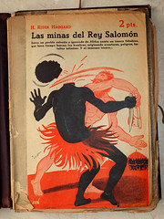 """""""Las minas del Rey Salomón"""", portada de Manolo Prieto (obaku estudio) Tags: 1940 ilustración manoloprieto diseñográficoantiguo"""
