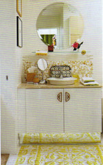 Picture 37 (mscott218) Tags: favorite sabrina white house home yellow tile bathroom mirror design hardware bath interiors interior canadian chinoiserie linn interiordesign eclectic tablescape backsplash canadianhouseandhome canadianhousehome
