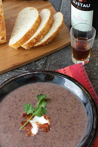 Black Bean Soup with Bacon & Sherry Recipe